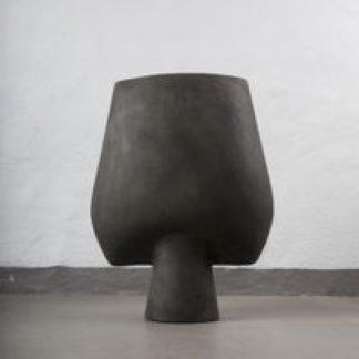Vase Beton dark gray H43