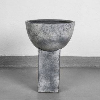 Block Vase Beton H19 grey