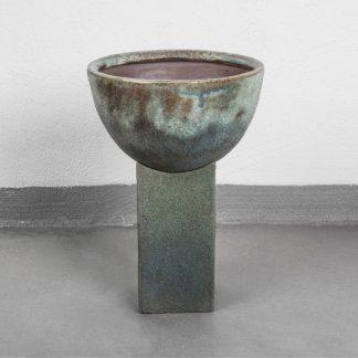 Block Vase Beton H32,5 ocean