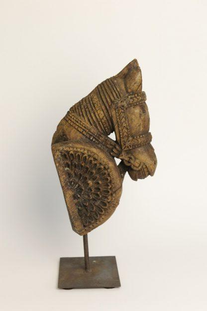 Antiker Pferdekopf natural