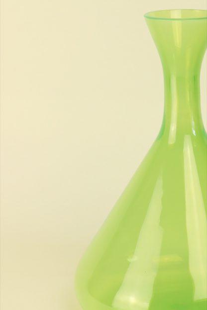 Mundgeblasene Vase Acid Grün